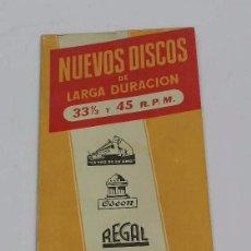 Catálogos de Música: CATÁLOGO NUEVOS DISCOS DE LARGA DURACIÓN 1955. LA VOZ DE SU AMO, ODEON, REGAL, PATHE, MGM, TIENE 120. Lote 54244310