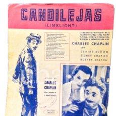 Catálogos de Música: CANDILEJAS ·· LIMELIGHT ·· CHARLES CHAPLIN ·· EDICIONES HISPANIA ·· BOURNE MUSIC PUBLISHERS ·· 1953. Lote 54542135