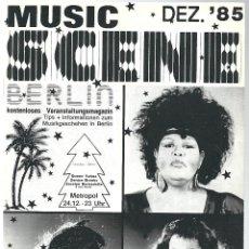 Catálogos de Música: FOLLETO DE 20 PAGS, DE MUSIC SCENE DE BERLIN DE DICIEMBRE DEL 1985 EN ALEMAN. Lote 54666116