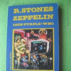 Catálogos de Música: ROCK COMIX ROLLING STONES/LED ZEPPELIN COMIX, FOTOS Y TEXTOS. 1976 PDELUXE. Lote 54818680