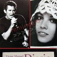 Catálogos de Música: DIARIO DE RUTA EL GUSTO ES NUESTRO - LIBRO CONCIERTO ANA BELÉN JOAN MANUEL SERRAT MIGUEL RÍOS MÚSICA. Lote 54993105