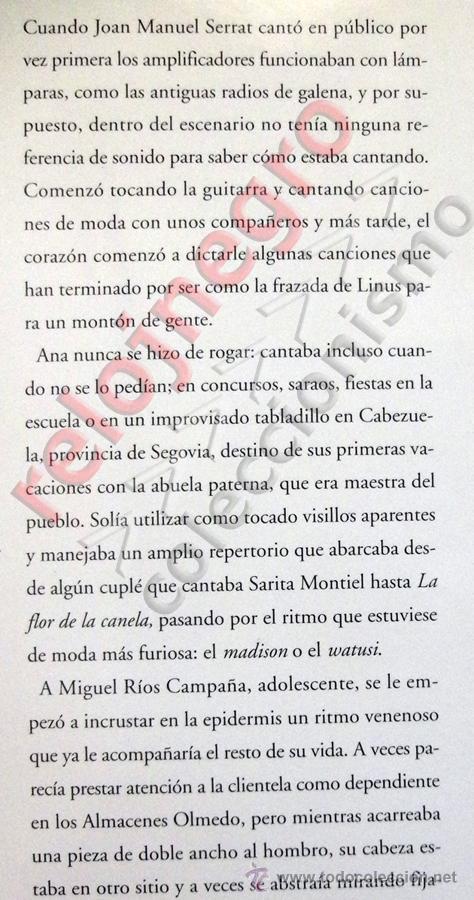 Catálogos de Música: DIARIO DE RUTA EL GUSTO ES NUESTRO - LIBRO CONCIERTO ANA BELÉN JOAN MANUEL SERRAT MIGUEL RÍOS MÚSICA - Foto 2 - 54993105