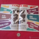 Catálogos de Música: FOLLETO DIPTICO TOUR 88 1988 HUMAN RIGHT NOW BARCELONA MACROCONCIERTO DERECHOS HUMANOS DISCOPLAY VER. Lote 55024922