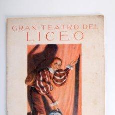 Catálogos de Música: ANTIGUO PROGRAMA GRAN TEATRO DEL LICEO JUAN MESTRES CALVET AÑO 1935. Lote 55029560