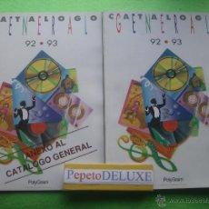 Catálogos de Música: POLYGRAM RECORDS CATALOGO GENERAL 1992-1993 CATALOGO DISCOS,VIDEOS,CD´S CASS PDELUXE. Lote 55058596