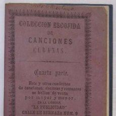 Catálogos de Música: COLECCION ESCOGIDA DE CANCIONES CUBANAS. Lote 55092655
