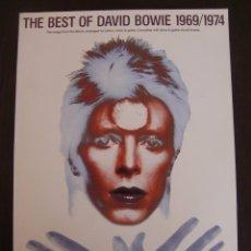 Catálogos de Música: LIBRO DE ACORDES THE BEST OF DAVID BOWIE 1969 / 1974. Lote 55555756