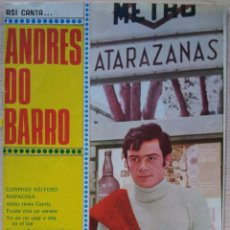 Catálogos de Música: ASI CANTA ANDRES DO BARRO - CANCIONERO - EDITORIAL ALAS 1970. Lote 55918374