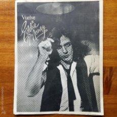 Catálogos de Música: DISPLAY VUELVE EDDIE MONEY, CBS. Lote 55934362