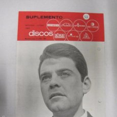 Catálogos de Música: CATALOGO DISCOS VERGARA - BARCELONA - SUPLEMENTO SEPTIEMBRE OCTUBRE 1966-VER FOTOS-(V-5300) . Lote 56372798