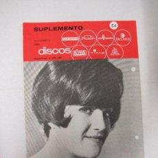 Catálogos de Música: CATALOGO DISCOS VERGARA - BARCELONA - SUPLEMENTO NOVIEMBRE 1966-VER FOTOS-(V-5301) . Lote 56372837