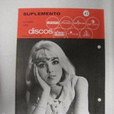 Catálogos de Música: CATALOGO DISCOS VERGARA - BARCELONA - SUPLEMENTO OCTUBRE 1965-VER FOTOS-(V-5304) . Lote 56372897