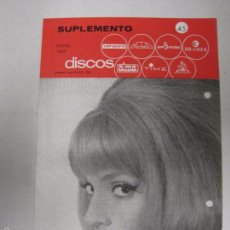Catálogos de Música: CATALOGO DISCOS VERGARA - BARCELONA - SUPLEMENTO ENERO 1966-VER FOTOS-(V-5305) . Lote 56372911