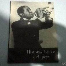 Catálogos de Música: HISTORIA BREVE DEL JAZZ. Lote 56401592