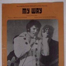Catálogos de Música: ELVIS PRESLEY - MY WAY. Lote 56804009