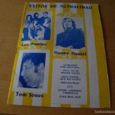 Catálogos de Música: ANTIGUO FOLLETO LOS PUNTOS - DANNY DANIEL - TOM JONES. Lote 214148495