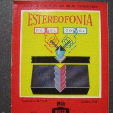 Catálogos de Música: CATALOGO DISCOS ESTEREOFONIA - SONIDO ESTEREOFONICO-AÑO 1959 - VER FOTOS Y MEDIDAS -( V- 5612). Lote 56893294