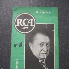 Catálogos de Música: CATALOGO DISCOS RCA FARNCES - VER FOTOS Y MEDIDAS -( V- 5613). Lote 56893307