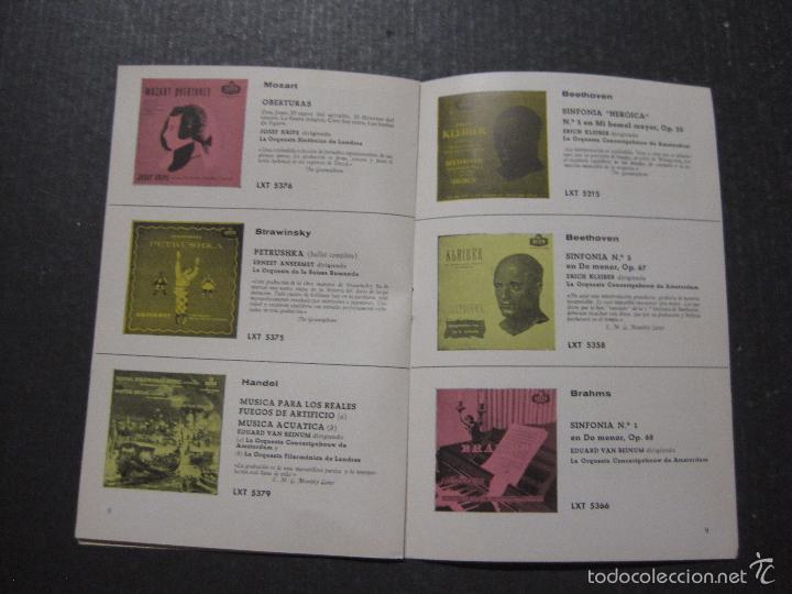 Catálogos de Música: CATALOGO DISCOS DECCA - 50 CLASICOS INMORTALES ENERO 1959 - VER FOTOS Y MEDIDAS -( V- 5615) - Foto 5 - 56893350