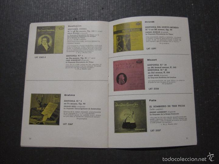 Catálogos de Música: CATALOGO DISCOS DECCA - 50 CLASICOS INMORTALES ENERO 1959 - VER FOTOS Y MEDIDAS -( V- 5615) - Foto 6 - 56893350