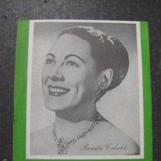 Catálogos de Música: CATALOGO DISCOS RENATA TEBALDI - 1959 - VER FOTOS Y MEDIDAS -( V- 5616). Lote 56893372