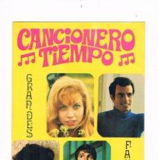 Catálogos de Música: CANCIONERO DEL TIEMPO GRANDES FAMOSOS KARINA JULIO IGLESIAS SERRAT RAPHAEL. Lote 56898102