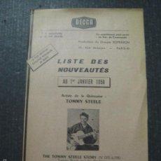 Catálogos de Música: CATALOGO DISCOS - DECCA FRANCES - VER FOTOS - (V-5639). Lote 56918606