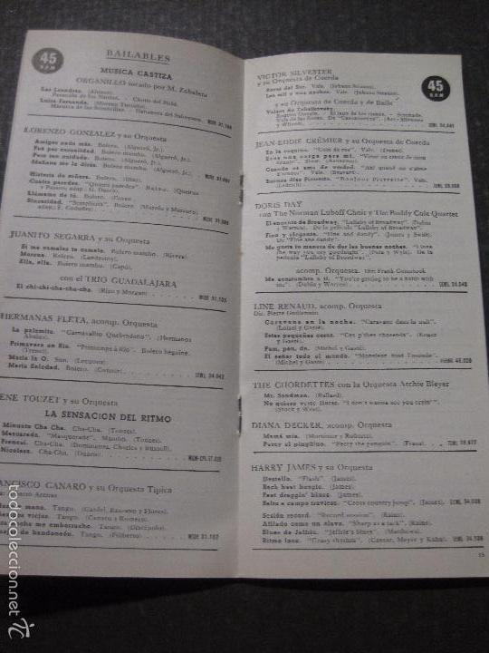 Catálogos de Música: CATALOGO DISCOS -LA VOZ DE SU AMO ODEON REGAL PATHE MGM- JUANITO SEGARRA - VER FOTOS - (V-5643) - Foto 5 - 56918814