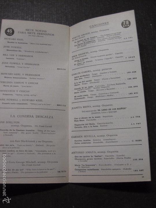 Catálogos de Música: CATALOGO DISCOS -LA VOZ DE SU AMO ODEON REGAL PATHE MGM- JUANITO SEGARRA - VER FOTOS - (V-5643) - Foto 6 - 56918814