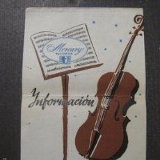 Catálogos de Música: CATALOGO DISCOS - MERCURY RECORDS - MADRID NOVIEMBRE 1958 - VER FOTOS - (V-5647). Lote 56919049