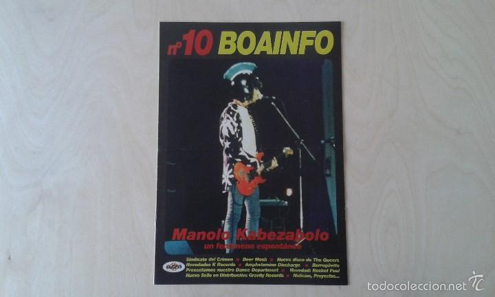 BOAINFO Nº 10 - MANOLO KABEZABOLO, SINDICATO DEL CRIMEN, BEER MOSH, BERROGÜETTO, THE KILLERS BARBIES (Música - Catálogos de Música, Libros y Cancioneros)