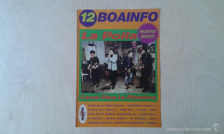 BOAINFO Nº 12 - LA POLLA, EL CLUB DE LOS POETAS VIOLENTOS ( CPV ), CASKÄRRABIAS, LOS MOROCHOS... (Música - Catálogos de Música, Libros y Cancioneros)
