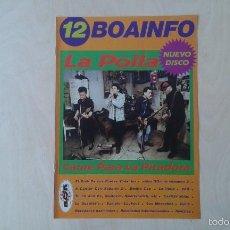 Catálogos de Música: BOAINFO Nº 12 - LA POLLA, EL CLUB DE LOS POETAS VIOLENTOS ( CPV ), CASKÄRRABIAS, LOS MOROCHOS.... Lote 57256217