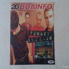 Catálogos de Música: BOAINFO Nº 20 - FUGAZI, TODOS TUS MUERTOS, GRIDALO FORTE RECORDS, KING MAFRUNDI, ARI, BANO.... Lote 57256420
