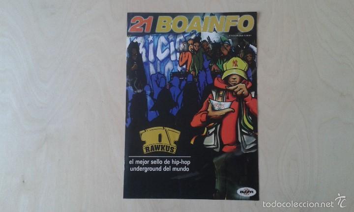 BOAINFO Nº 21 - RAWKUS, MR RANGO, FRANK T, 7 NOTAS 7 COLORES, MOS DEF, ALIAS GALOR, ÑU, PORRETAS.... (Música - Catálogos de Música, Libros y Cancioneros)