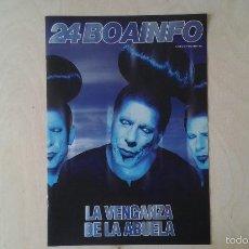 Catálogos de Música: BOAINFO Nº 24 - LA VENGANZA DE LA ABUELA, SKALARIAK, LAUREL AITKEN, RUDE, SFDK, GERONACIÓN..... Lote 57256529