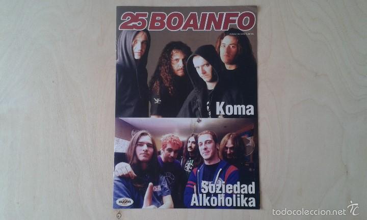 BOAINFO Nº 25 - SOZIEDAD ALKOHOLICA, KOMA, SUPERCINEXCENE, KASE-O, BUENAS NOCHES ROSE, ETSAIAK... (Música - Catálogos de Música, Libros y Cancioneros)
