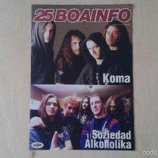 Catálogos de Música: BOAINFO Nº 25 - SOZIEDAD ALKOHOLICA, KOMA, SUPERCINEXCENE, KASE-O, BUENAS NOCHES ROSE, ETSAIAK.... Lote 57256544