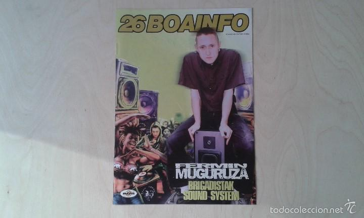BOAINFO Nº 26 - FERMÍN MUGURUZA, 2 KATE, RAMICCIA, ARI, PAYO MALO, JAURÍA, DJ SPINNA, MOOCKIE.... (Música - Catálogos de Música, Libros y Cancioneros)