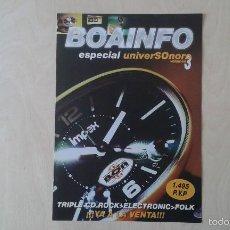 Catálogos de Música: BOAINFO -- ESPECIAL UNIVERSONORO VOL. 3 -- S.A., BOIKOT, ANARKO, 7 NOTAS 7 COLORES, SEXY SADIE.... Lote 57256595