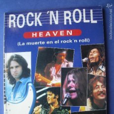 Catálogos de Música: REVISTA ROCK´N´ROLL HEAVEN LA MUERTE EN EL ROCK´N ROLL PASTAS DURAS 80 PAGINAS 1992. Lote 57351684