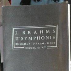 Catálogos de Música: J. BRAHMS IIE SYM, RE MAJEUR, D.MAJOR, D DUR. Lote 57397117
