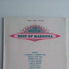 Catálogos de Música: LIBRO/CANCIONERO THE BEST OF MADONNA.. Lote 57678749