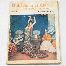 Catálogos de Música: EL ALBUM DE LA CANCION GRANDES EXITOS Nº 1 TENIENTE SEDUCTOR,PRINCIPE GONDOLERO,IMPERIO ARGENTINA.... Lote 57751005