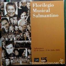 Catálogos de Música: FLORILEGIO MUSICAL SALMANTINO, . Lote 57761805