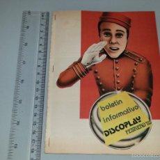Catálogos de Música: ANTIGUO BOLETIN INFORMATIVO DISCOPLAY - FEBRERO DE 1978 - MUSICA , DISCOS , ETC.... Lote 58289903