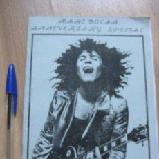 Catálogos de Música: MARC BOLAN T REX ANTIGUO FANZINE INGLES DE MEDIADOS DE LOS 80 CLUB DE FANS GLAM ROCK GAY BOWIE. Lote 58467305