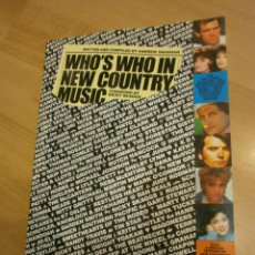 Catálogos de Música: WHO´S WHO IN NEW COUNTRY MUSIC, POR ANDREW VAUGHAN. Lote 58590035