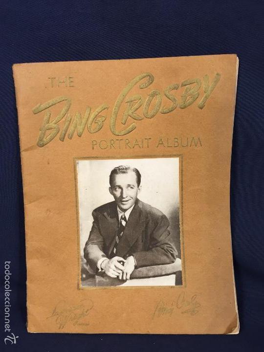 THE BING CROSBY PORTRAIT ALBUM LAWRENCE WRIGHT COPYRIGHT CANCIONERO 26,5X21CMS (Música - Catálogos de Música, Libros y Cancioneros)