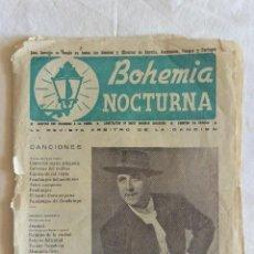 Catalogues de Musique: REVISTA CANCIONERO BOHEMIA NOCTURNA PEPE PINTO . Lote 58611657